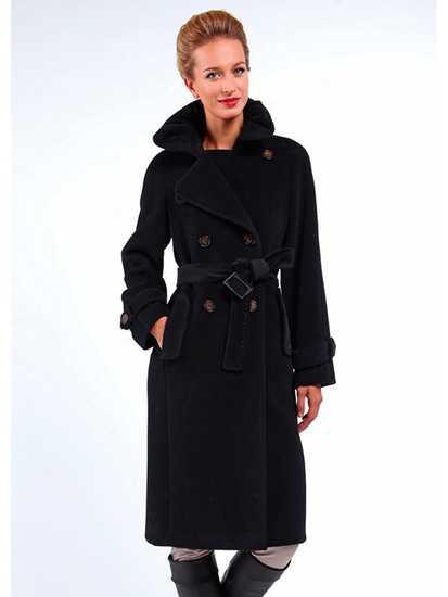 Модное женское двубортное пальто