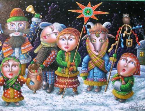 Рождественские колядки на русском и украинском языке