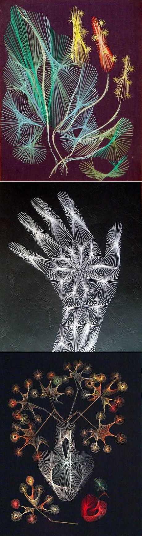 Сделай сам: Картина Ромашки в технике изонить