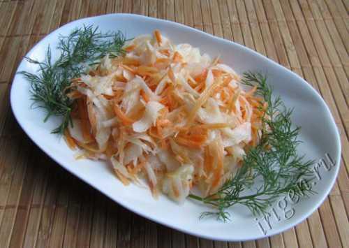 Рецепты салата из редьки и моркови, секреты