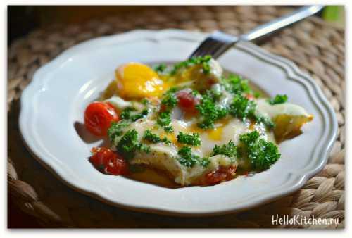 Яичница с сыром