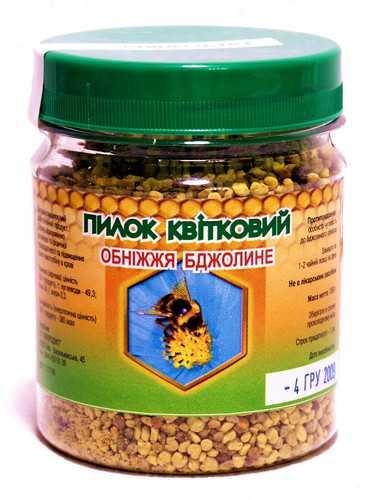 Пыльца содержит сахара и около наименований необходимых для человека витаминов тиамин, аскорбиновая кислота, каротин и др